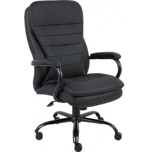 Heavy-Duty Double Plush Office Chair - 400 Lbs
