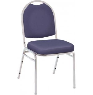 Dome Top Custom Vinyl Stacking Chair, Chrome