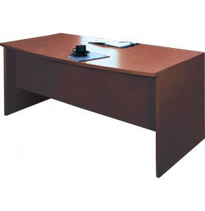 Genoa Double Pedestal Bow Front Office Desk