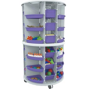 Mobl Lite Storage w/ Colored Totes & Pie Trays