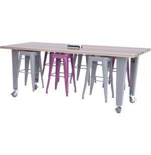 IDEA Island Makerspace Table with 6 Stools by CEF
