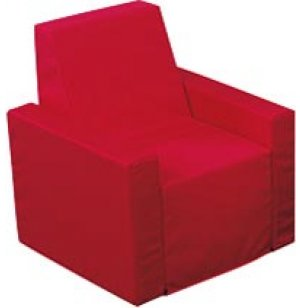 Childs Upholstered Red Arm Chair