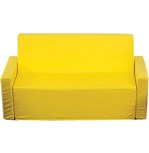 Childs Upholstered Yellow Sofa