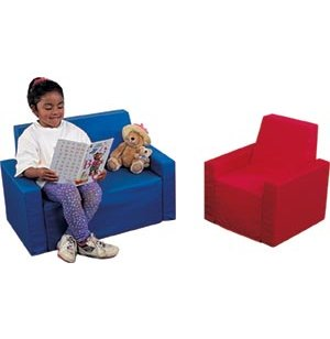 Childs Upholstered 2Piece Loveseat and Chair Set