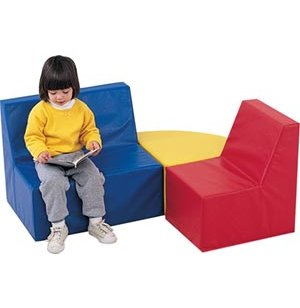 Childs Upholstered 3 Piece Armless Seating