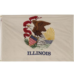 Nylon Outdoor Illinois State Flag