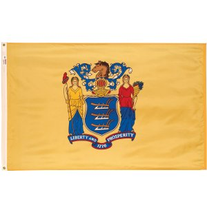 Nylon Outdoor New Jersey State Flag