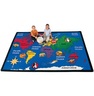 World Explorer Rectangle Carpet