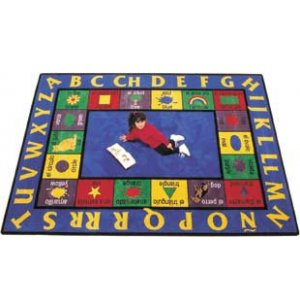 Bilingual Rectangle Rug