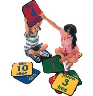 Bilingual Number Square Set of 10