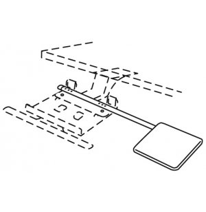 Articulating Keyboard & Mouse Tray