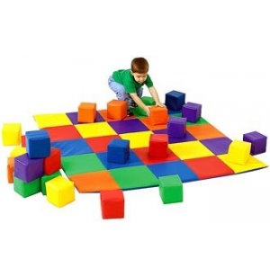 Soft Play Mat and Matching Baby Blocks