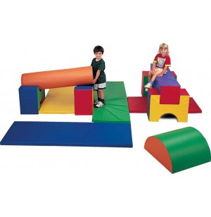 Indoor Soft Play Forms and Mats 11-Piece Gym Set