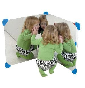 Acrylic Corner Mirrors - Set of 2
