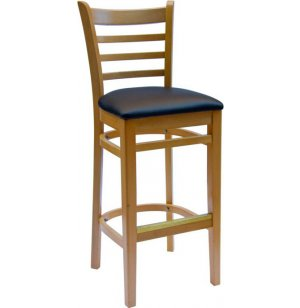 Burlington Bar Stool with Vinyl Padded Seat