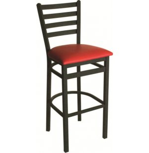 Lima Steel Bar Stool with Vinyl Seat