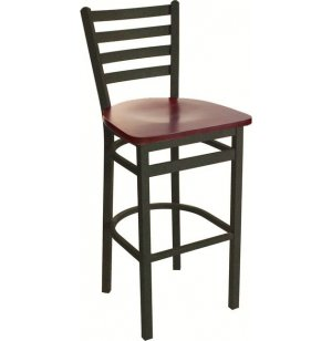 Lima Steel Bar Stool with Veneer Seat