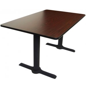 Rectangular Cafe Table with 2 End Bases