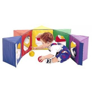Multi-Image Mirror Pentagon Soft Play Forms