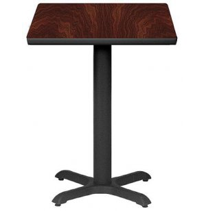 Square Bar-Height Cafe Table with X-Base