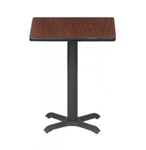 Rectangular Bar-Height Cafe Table with X-Base