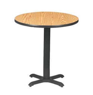 Round Bar-Height Cafe Table with X-Base