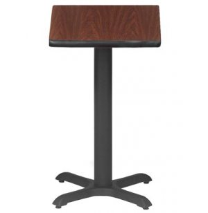 Square Cafe Table with X-Base