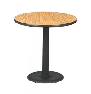 Round Bar-Height Cafe Table with Round Base