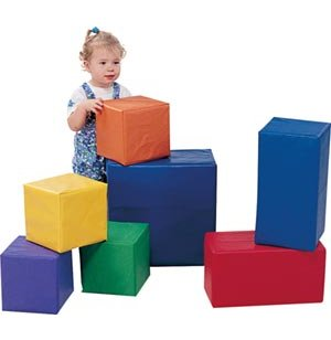 Sturdiblock Soft Play Toddler Baby Blocks - Set of 7
