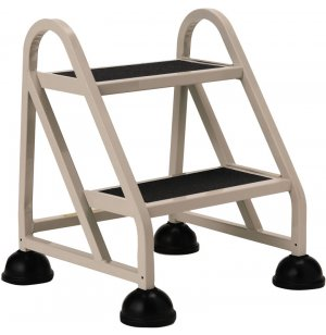 Stop-Step Aluminum Safety Ladder, 2 Steps