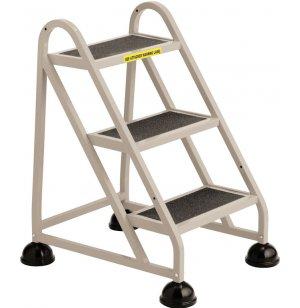Stop-Step Aluminum Safety Ladder, 3 Steps