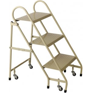 Steel Folding Step Ladder, 3 Steps