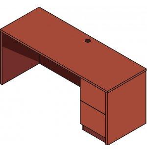 Right-Pedestal Desk for Circulation Desk