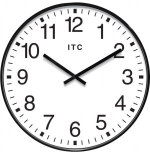 Profuse Black Oversized Classroom Wall Clock
