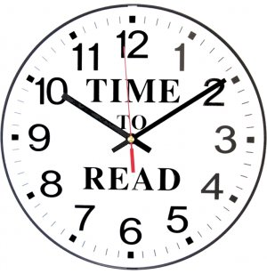 Time to Read Classroom Wall Clock