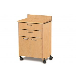 Medical Supply Cart on Wheels with 2 Doors and 2 Drawers
