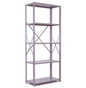 Industrial Metal Shelving-5 Open Shelves, 36x12
