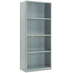 "Industrial Metal Shelving - 6 Closed Shelves, 36""x18""x87""H"