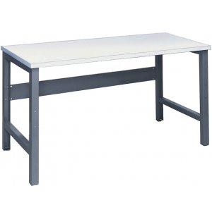 Adjustable Height Steel Workbench - Laminate Top
