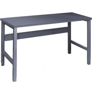 Adjustable Height Steel Workbench - Steel Top