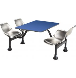 Cluster Seating Table - Laminate Top, Stainless Seats