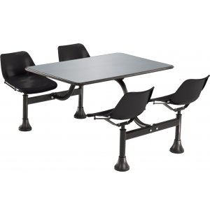 Cluster Seating Table - Stainless Steel Top