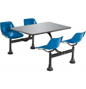 Cluster Seating Table - Stainless Top
