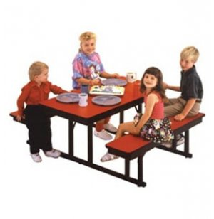 Rectangular Preschool Cafeteria Table