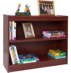 Contemporary Wood Veneer Bookcase Standard