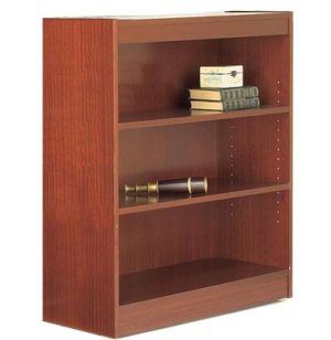 Reinforced Shelf Laminate Bookcase with 1 Shelf