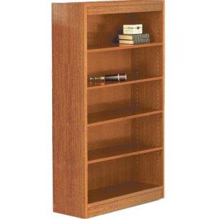 Contemporary Wood Veneer Bookcase Standard