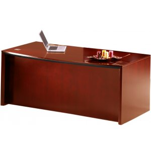 Corsica Bowfront Desk Shell