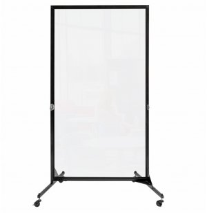 Freestanding Portable Clear Room Divider - 1 Panel