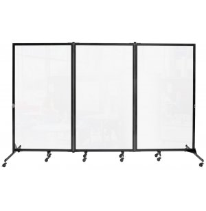 Freestanding Portable Clear Room Divider - 3 Panels